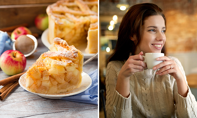 Warme drank + gebak bij Restaurant Café De Eetkamer