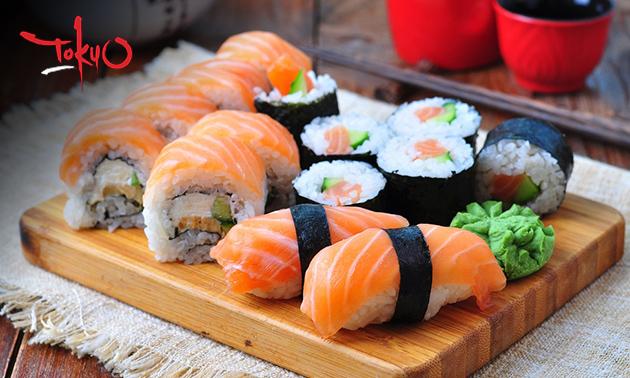 Afhalen: sushibox (16 stuks)