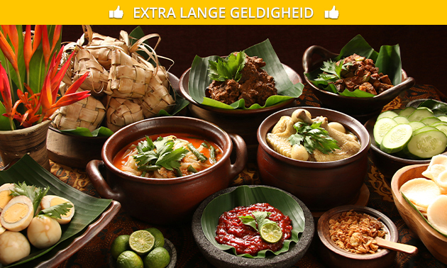 Thuisbezorgd of afhalen: Indonesische rijsttafel