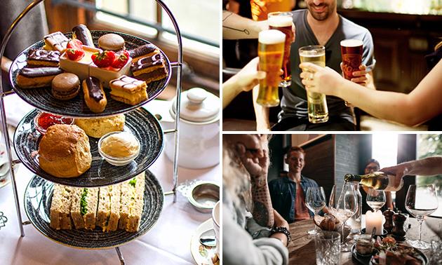 High tea, beer óf wine (1,5 uur) bij Maxima's