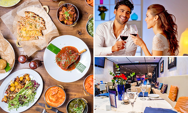 Indiaas 2-gangenlunch op het terras bij Memories of India