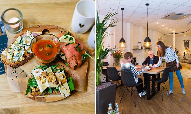 Lunchplank + koffie/thee bij Mengelmoes