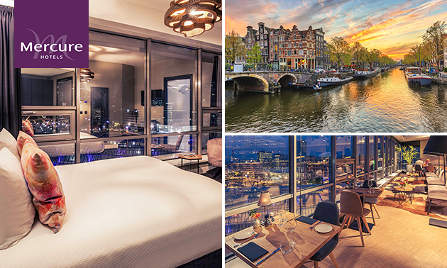 Overnachting + ontbijt + late check-out voor 2 in Amsterdam