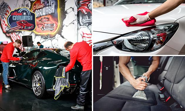 Autowasbeurt naar keuze bij Amerikaanse carwash