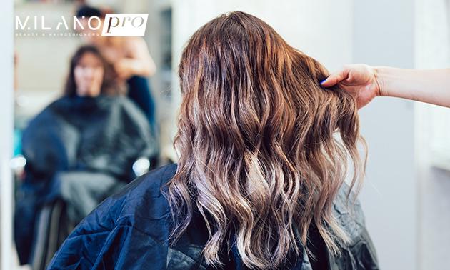 Balayage-haarkleuring evt. met knipbehandeling
