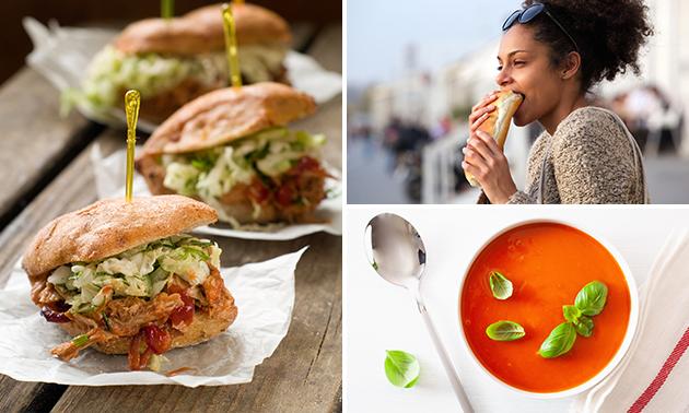 Afhalen: soep + broodje naar keuze voor 2