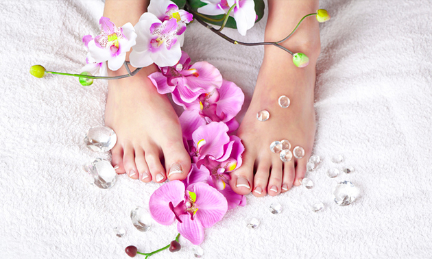 Spa-pedicurebehandeling (60 min) + evt. gellak