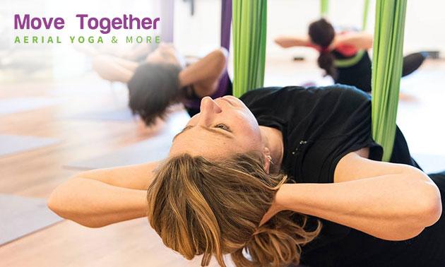 Workshop (2 uur) óf 5 lessen aerial yoga