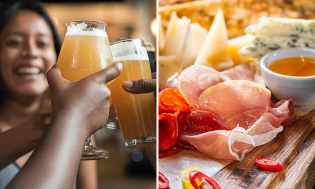 Thuisbezorgd of afhalen: bierproeverij inclusief borrelplank