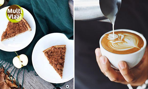 Stuk vlaai + koffie of thee bij MultiVlaai