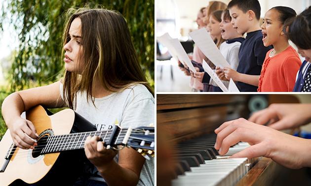 4 zang- of instrumentlessen