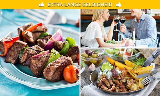 2-gangen keuzediner bij Mythos Grieks restaurant