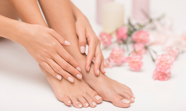 Spa-manicure- of spa-pedicurebehandeling + evt. gellak
