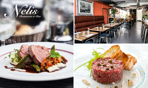 3- of 4-gangendiner bij Nelis Restaurant & Bar
