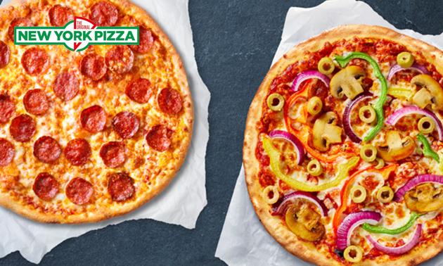 Afhalen: New York Pizza + blikje fris of garlic bread