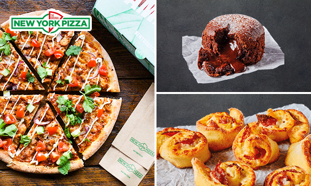 Afhalen: New York Pizza + pizzaroll + dessert