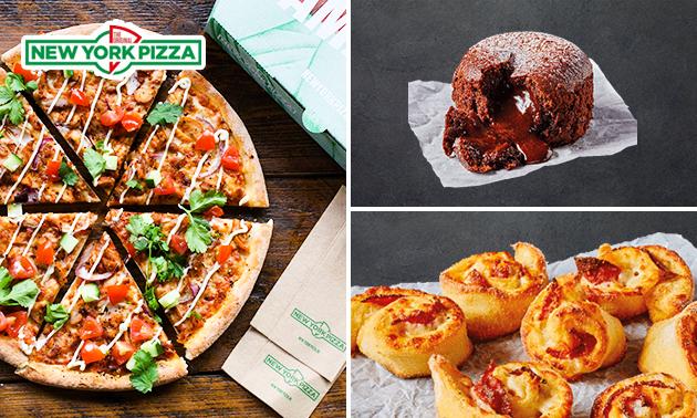 Afhalen: New York Pizza + pizzaroll + dessert