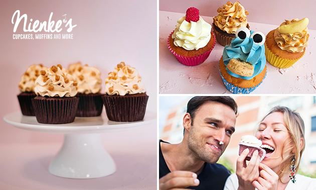Afhalen: box met 4 cupcakes bij Nienke's
