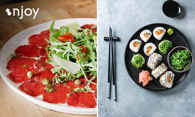 Afhalen: tapas- en sushischaal bij Njoy Wereldkeuken