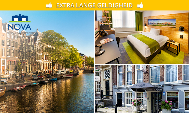 Hotelovernachting + ontbijt voor 2 in Amsterdam