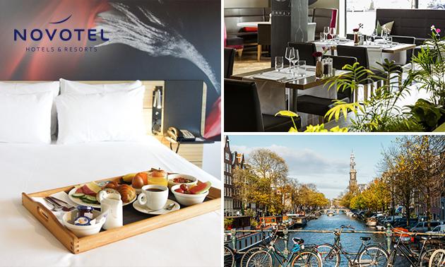 Overnachting voor 2 + ontbijt + parkeren in Amsterdam-Zuid