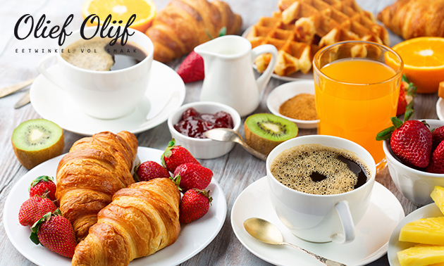 Ontbijt + koffie/thee + verse jus bij Olief Olijf
