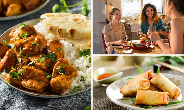 Indiaas/Sri Lankaans diner + snack + drankje