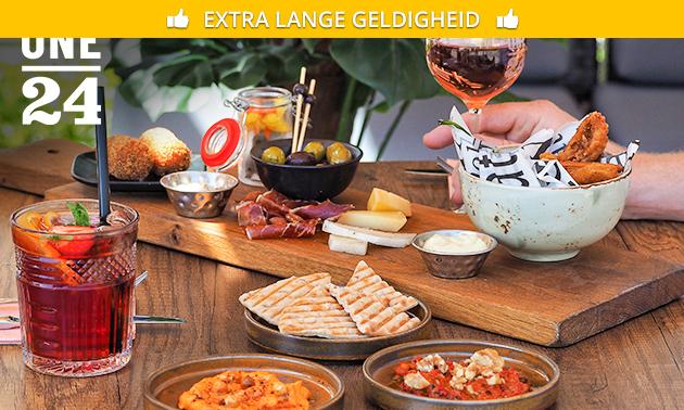 Complete mezze-plate + drankje naar keuze
