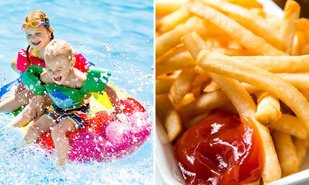 Entree voor Optisport Tolhuisbad + friet met saus