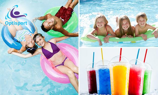 Entree voor vrijzwemmen bij Zwembad de Wetering