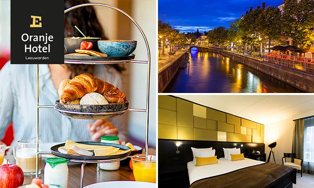 Overnachting + ontbijt voor 2 in hartje Leeuwarden