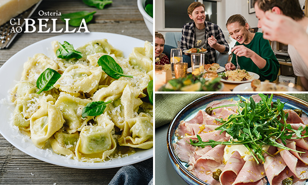 Afhalen: 3-gangen keuzediner bij Osteria Ciao Bella