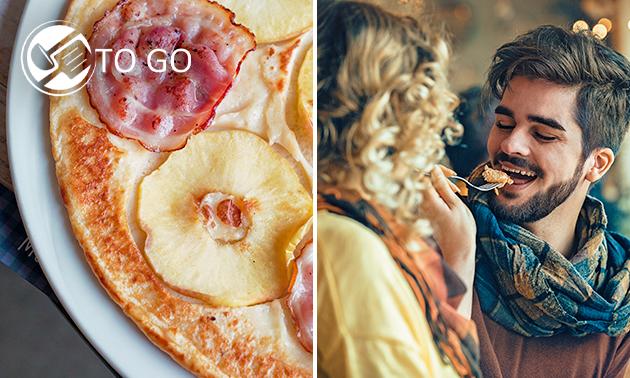 Afhalen: pannenkoek met 2 toppings naar keuze