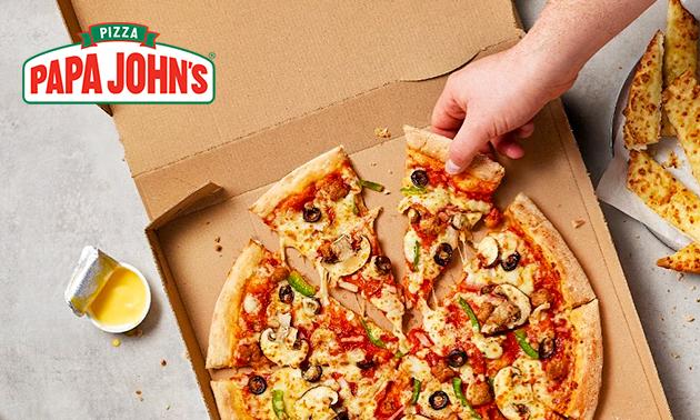 Afhalen: pizza + evt. fris bij Papa John's