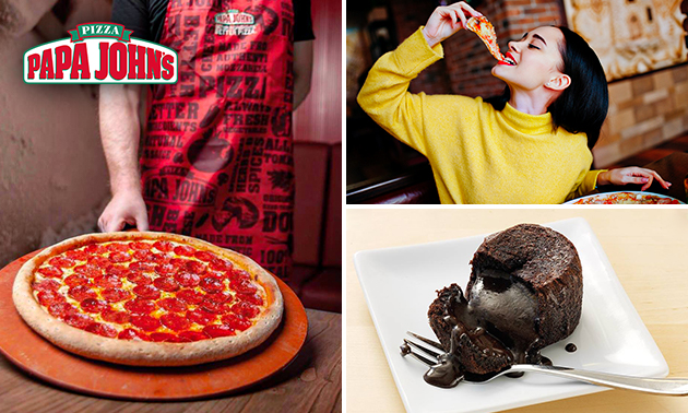 Take-away pizza + dessert bij Papa John's
