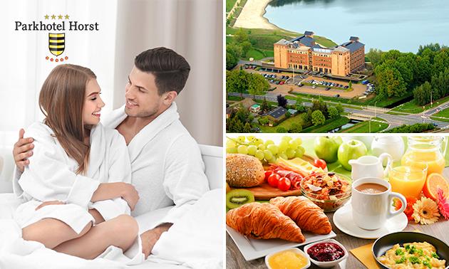 Overnachting(en) + ontbijt + wellness voor 2 in Limburg