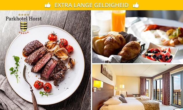 Overnachting + ontbijt + evt. 3-gangendiner voor 2 in Limburg