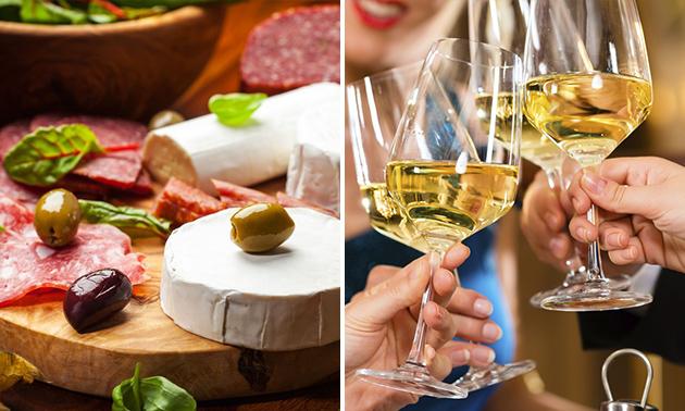 Afhalen: borrelplank met wijn van Wapen van Degenkamp