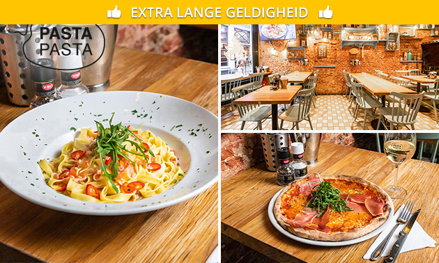 3-gangendiner (35+ keuzes) bij Pasta Pasta