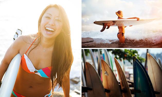 Surfles (2 uur) + 2 uur óf complete dag vrij surfen