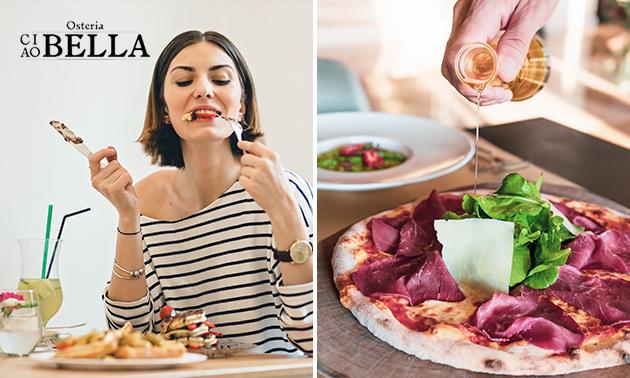 Afhalen: pizza + cake + blikje fris bij Osteria
