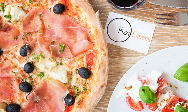 3-gangendiner (24 keuzes) bij Pizza Cantina