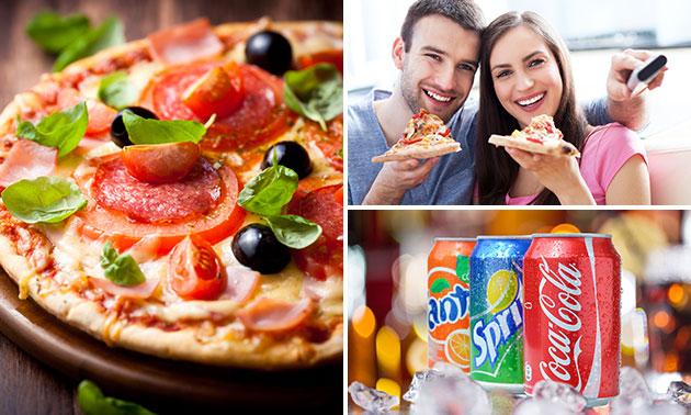 Take-away pizza naar keuze + blikje fris