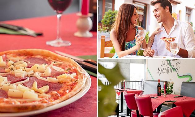 2-gangenlunch op het terras bij Pizzeria & Grillroom Stromboli