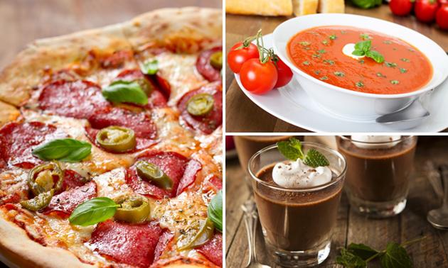 Afhalen: 3-gangen pizzadiner