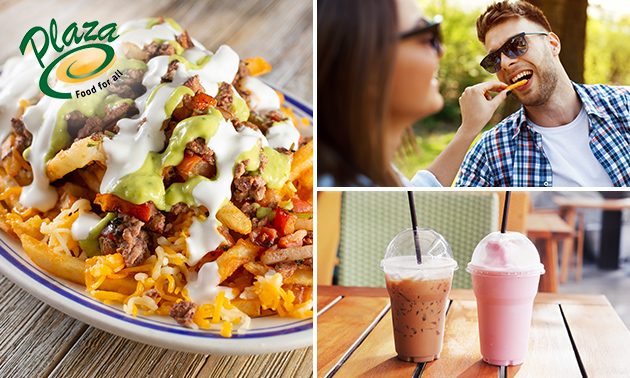 Afhalen: loaded fries + milkshake