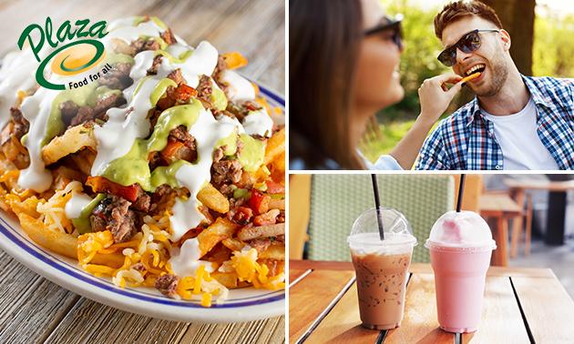 Afhalen: loaded fries + milkshake