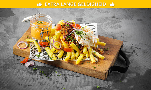Luxe frietje óf snackmenu voor 4 personen