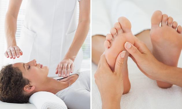 Reikibehandeling + eventueel voetmassage