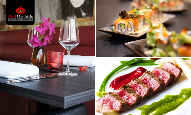 Shared dining (8 gerechten) bij Red Orchids